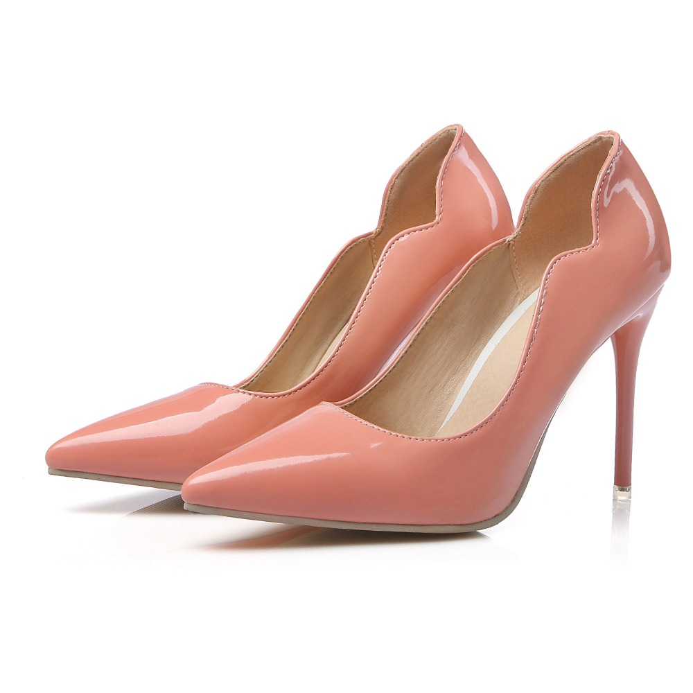 Big Size Sale 34-47 Apricot New Fashion Sexy Pointed Toe Women Pumps Platform super  High Heels Ladies Wedding  Party Shoes 8-12 hot sale brand ladies pumps sexy women high heels platform sexy women high heel pumps wedding shoes free shipping 2888 1