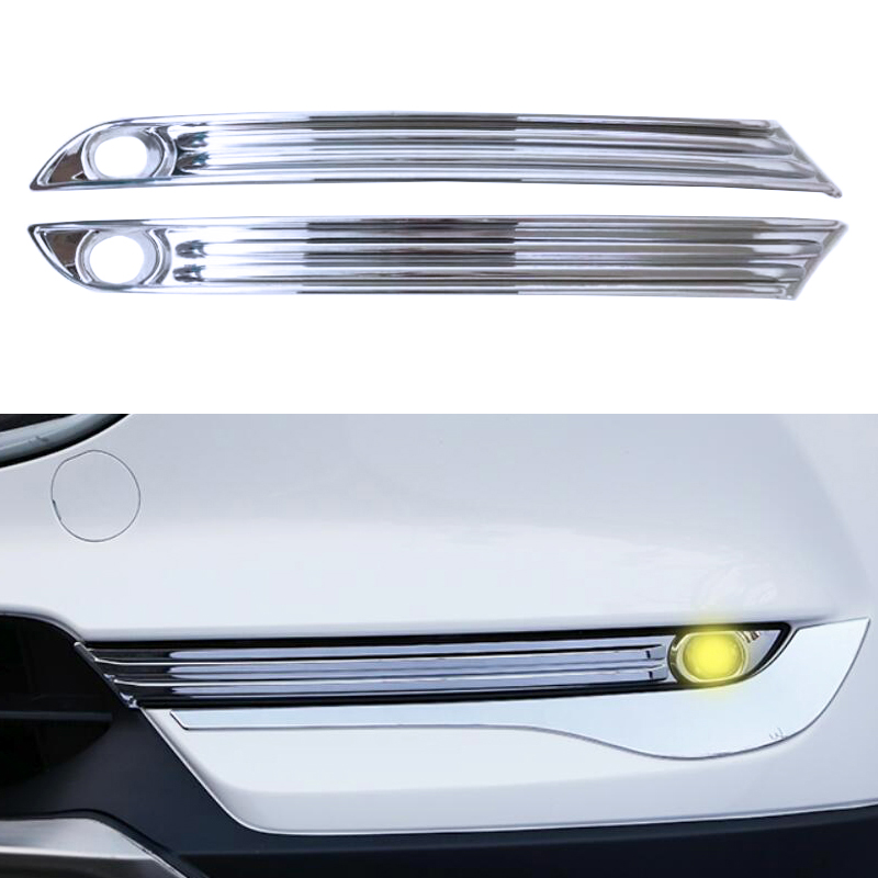 ABS Chrome Front Fog Light Lamp Cover Molding Car Accessories For Mazda CX5 CX-5 2017 2018 2nd Generation
