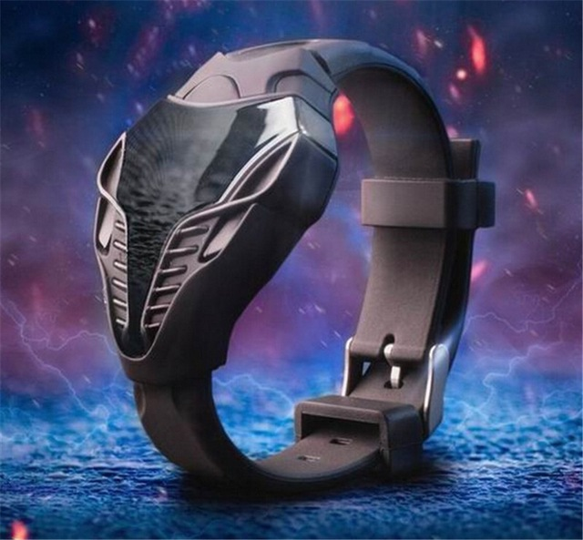 LED Watch Unique Design Silicone Hand Ring Watches For Boy Girl Student Digital Wristwatches Gift