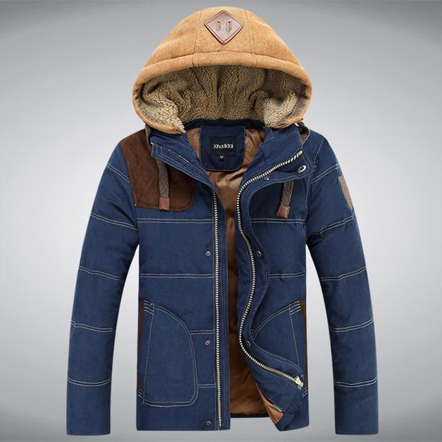Homens jaqueta de inverno 2016 casaco quente parka 2016 explosão do inverno quente jaqueta masculina versão Coreana de homens casuais grossa jaqueta acolchoada 2
