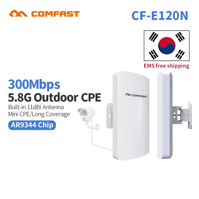 2pc Mini Comfast CF-E120A 5G Wireless Outdoor CPE WIFI Router 300Mbps Wireless Access Point CPE Router POE WIFI Bridge to point outdoor cpe 5 8g wifi router 200mw 1 3km 300mbps wireless access point cpe wifi router with 48v poe adapter wifi bridge cf e312a