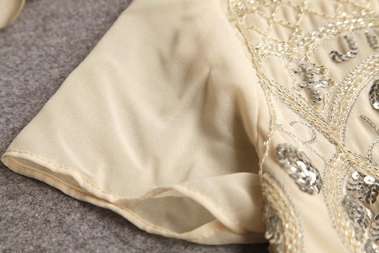 Seily Роскошная летняя шифоновая блузка с вышивкой бисером и блестками высокого качества с коротким рукавом повседневные женские вечерние Блузы с блестящим узором