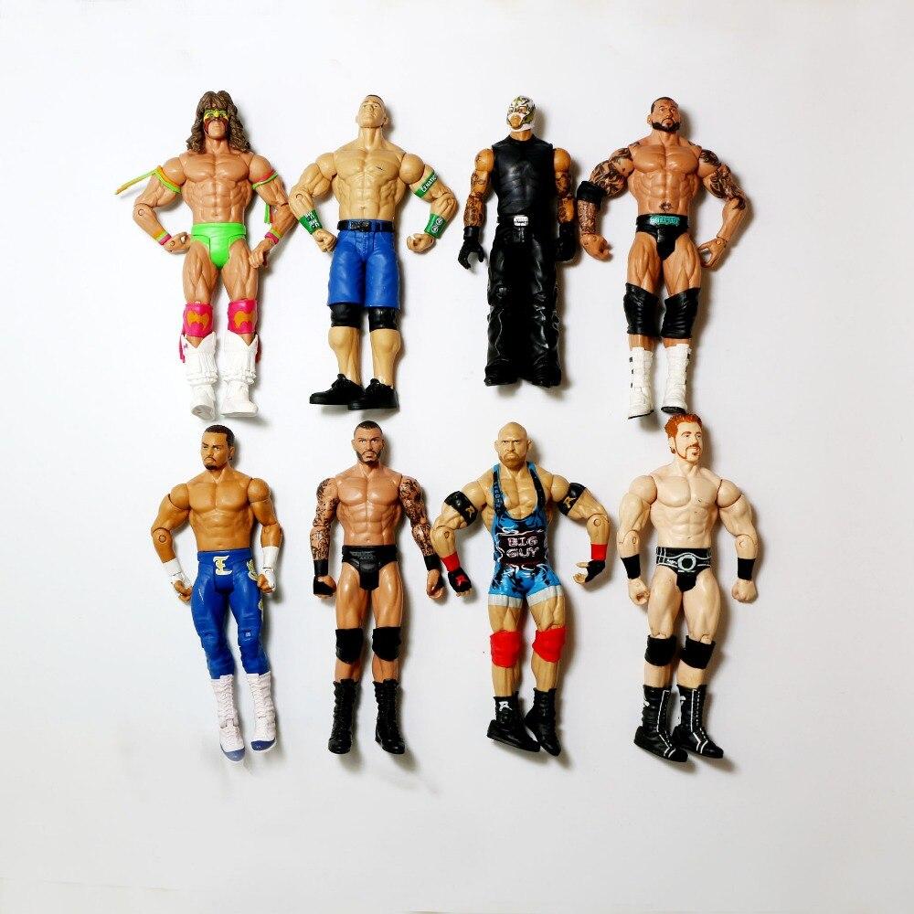 Image 3 - Wholesale 10Pcs/lot Occupation Wrestling Gladiators Movable Multi Joint Model Dolls Wrestler Action Figure toys Free ShippingAction & Toy Figures   -