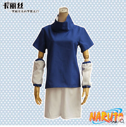 New Cos Roles Uchiha Sasuke Cosplay Anime NARUTO Cos Halloween Summer Set Full Set 4in1(Top+Shorts+Leggings+Protection Sleeve)