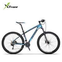 Nova marca de fibra carbono quadro mountain bike peso leve 27/30 velocidade 27.5 polegada roda freio a disco hidráulico mtb bicileta