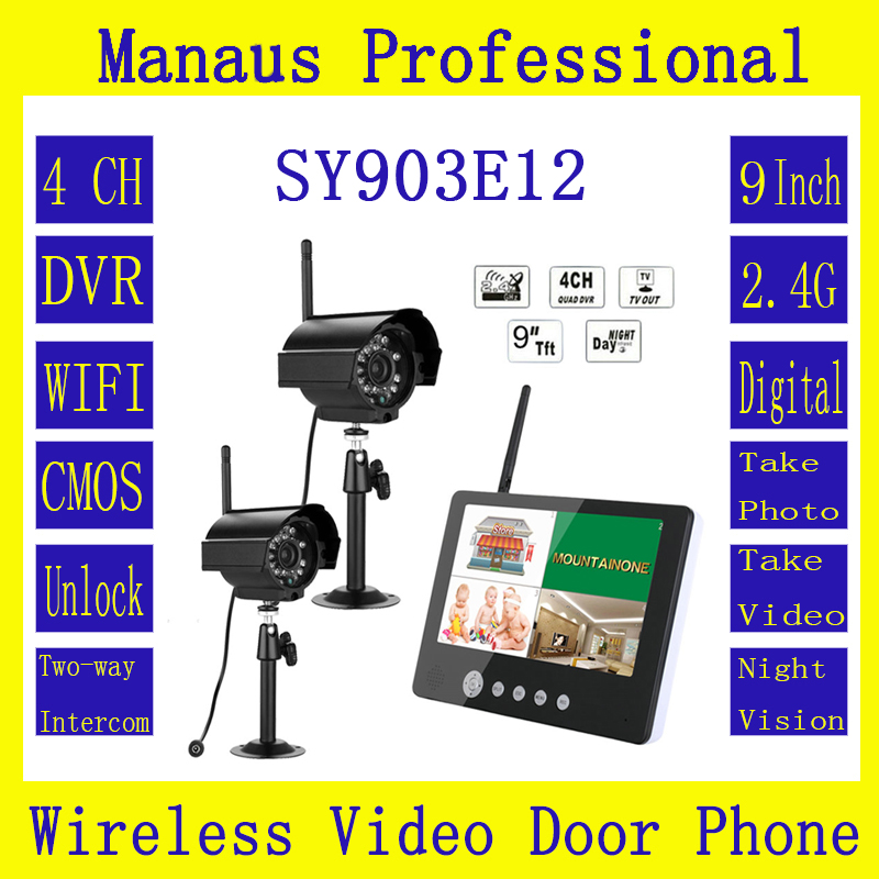 """2*Digital Cameras with 9"""" LCD Monitor DVR Wireless Kit ..."""