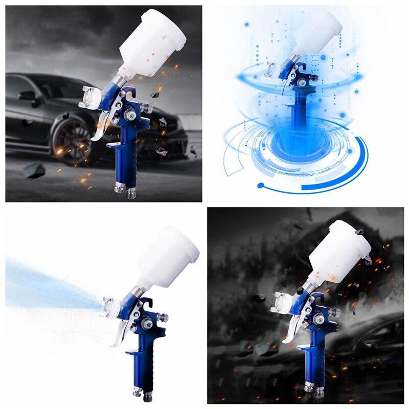 1.0MM Nozzle H-2000 Professional HVLP Spray Gun Mini Air Paint Spray Guns Airbrush For Painting Car