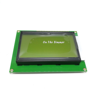 12864 LCD screen KS0107 KS0108 without Chinese font, yellow green screen, blue screen with backlight mata bor amplas