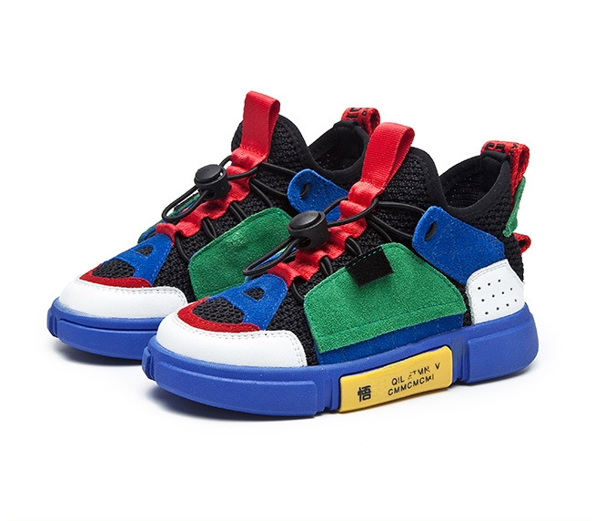 Single Net Boy Sports Shoes 2019 Spring New Single Shoes Casual Breathable Spring And Autumn Non-slip Kids Shoes