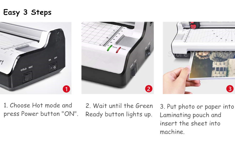 4 in 1 Laminating Machine With Rotary Trimmer Support For Perforated And Wave Cutting Styles