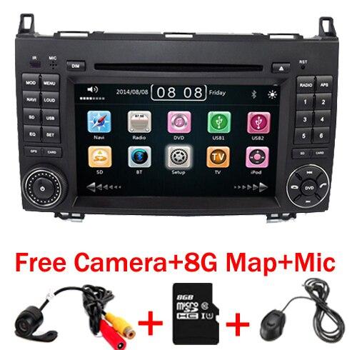 Lecteur DVD de voiture à écran tactile 7 pouces pour mercedes-benz B200 W169 A160 Viano Vito GPS NAVI RADIO BT avec Radio 3G RDS carte SD USB