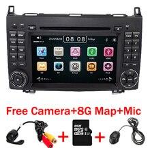 Reproductor de DVD de coche con pantalla táctil de 7 pulgadas para Mercedes-benz B200 W169 A160 Viano GPS NAVI RADIO BT con Radio 3G RDS USB SD mapa