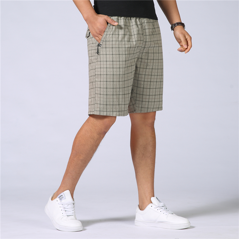 Striped Shorts Beach-Shirts Military Baggy Camo Cotton Plus-Size Casual Summer Homme