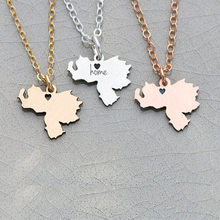 South America Charm Venezuela Jewelry Country Necklace Engrave Some Letters Drop Shipping Accepted YP6044