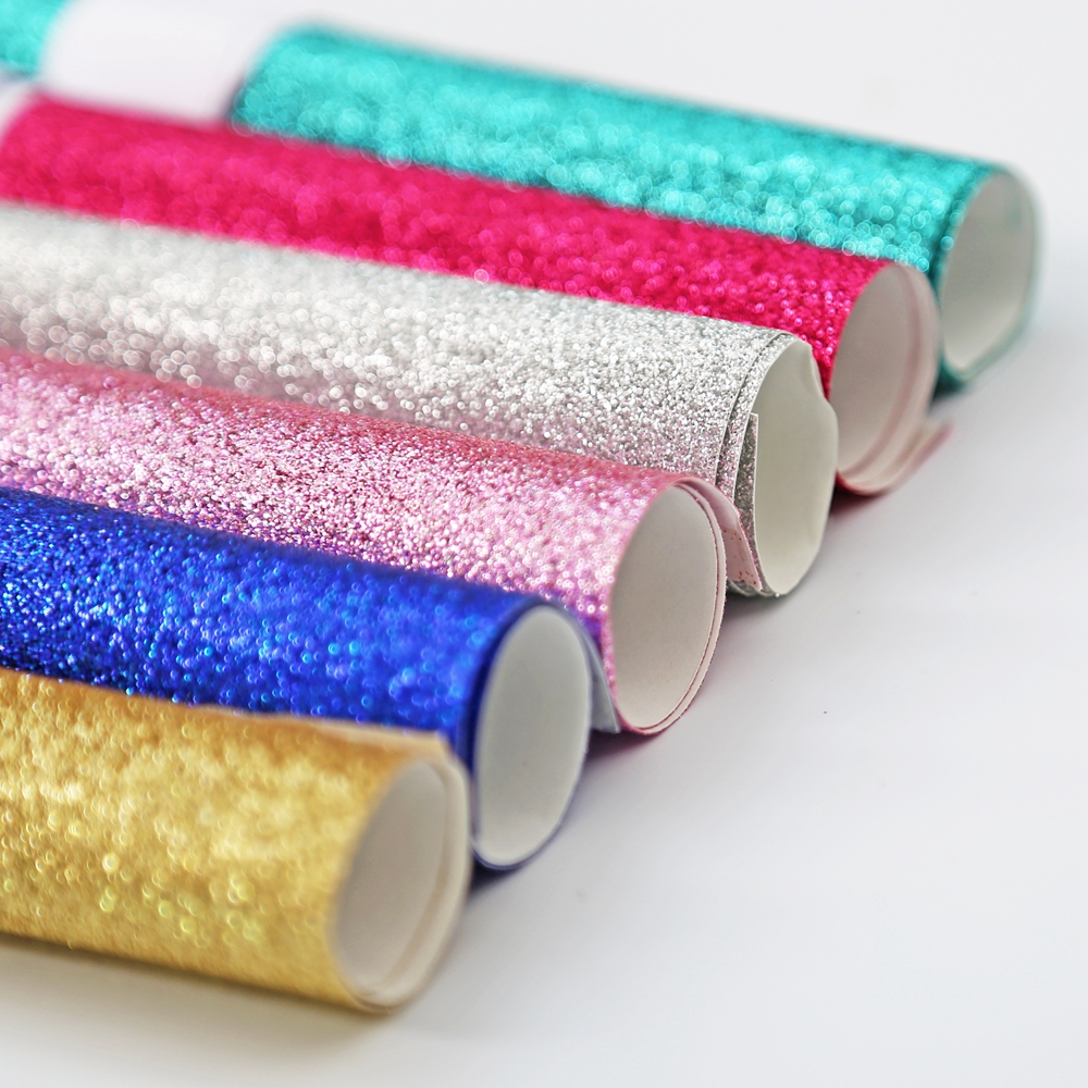 10PCS 20cm x 30cm Glitter paper shimmer gold silver blue pink rose powder bright colored ...