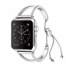 Модные Нержавеющаясталь браслет ремешок для apple Watch series 4 3 2 1 замена ремешок для apple iwatch 44/42/40/38 женские