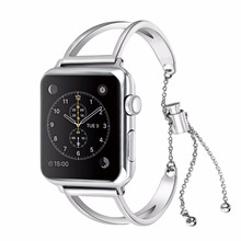 Fashion Stainless Steel Bracelet Watchband For Apple Watch series 4 3 2 1 replacement strap for apple iwatch 44/42/40/38 women