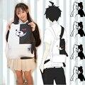 Japan Anime Dangan Ronpa Danganronpa Monokuma Backpack Cute Women School Shoulder Bag Kawaii 3D Bear Rucksack Daypack with Foot