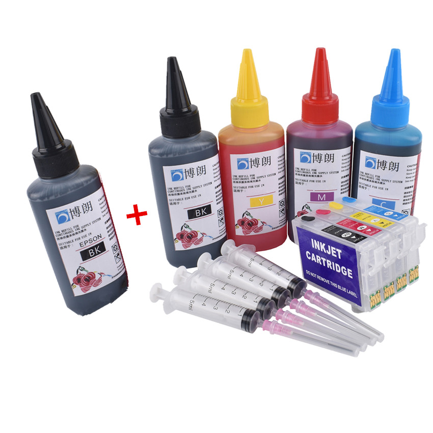 Refill Ink Kit FOR EPSON T1811 Refillable Ink Cartridge For EPSON XP-215 XP-312 XP-315 XP-412 XP-415 XP-225 XP 322 325 422 425