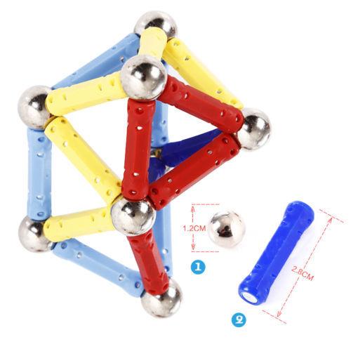 Magnética 60 Unids Conjuntos de bloques de Construcción Bloques de Construcción Juguetes de Los Ladrillos Niños