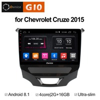 1024*600 Android 8.1 Quad 4Core 2GB RAM+16GB ROM Car DVD Player For Chevrolet Cruze 2015 GPS Navi Radio Stereo BT WIFI TPMS