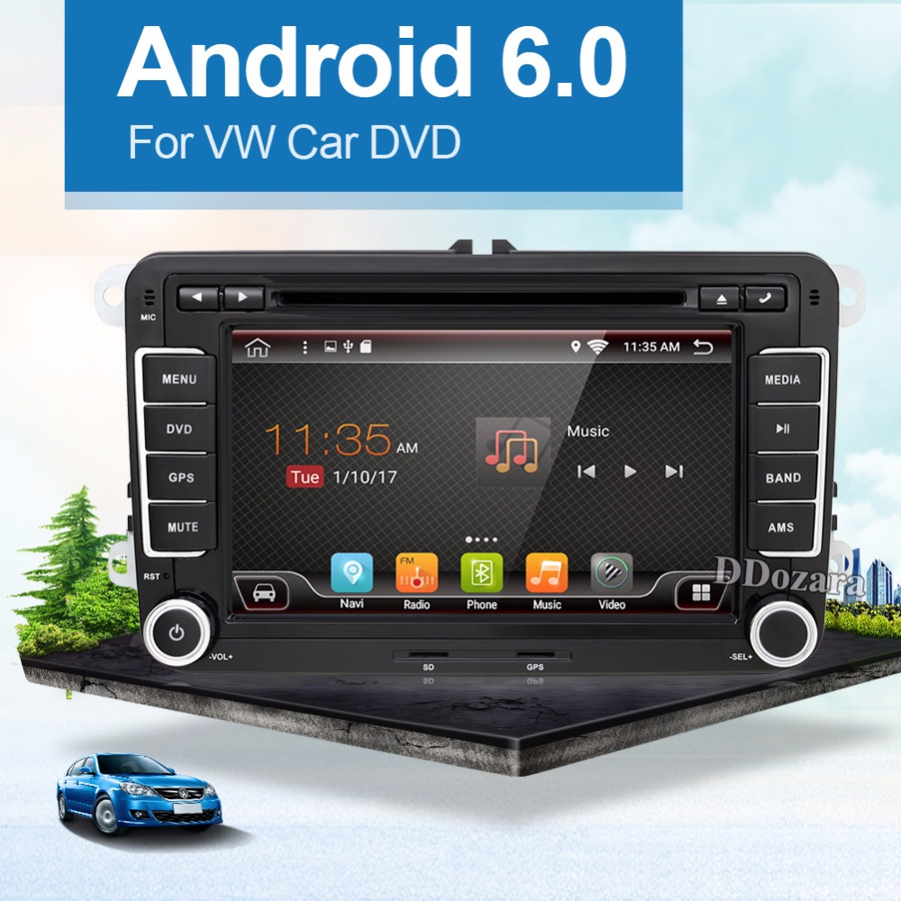 android 6 0 2 din android car dvd for vw passat b6 golf 5. Black Bedroom Furniture Sets. Home Design Ideas