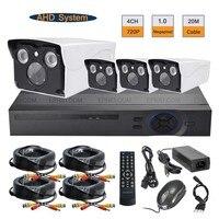 Security CCTV 4CH 720P AHD Camera DVR System 1 0MP Outdoor Surveillance Kit