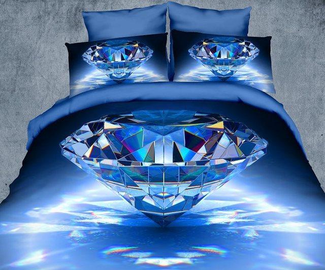 LUXUS polyester 3D HD diamant bettwsche bettlaken set ...