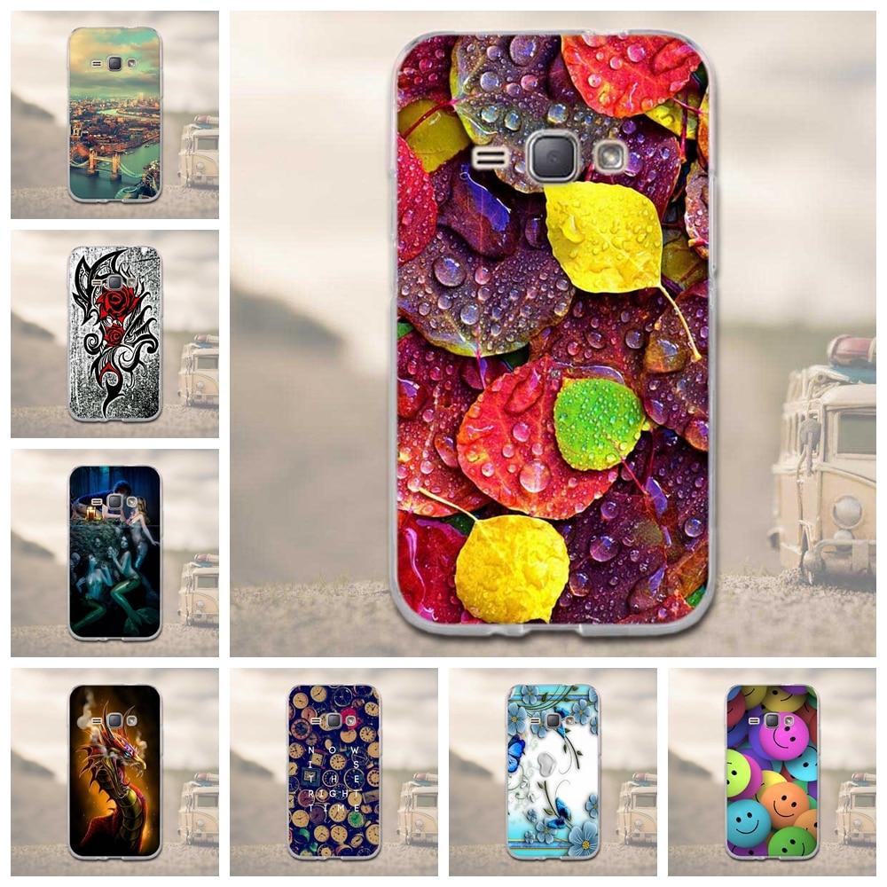 Pintura Capa Suave de TPU Caso Para Samsung Galaxy J1 (6) J120 J120F Teléfono Fu