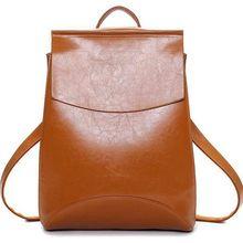 Новый 2017 женщины кожа рюкзак женские кожаные сумки студент мешок школы прилив институт ветер сумка pu кожаная сумка S-234