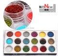 Envío Gratis 18 Colores de Uñas Glitter 3D Nail Art Kit de Herramienta UV Gel Decoración de Uñas de Acrílico Del Polvo Del Polvo Joya Herramientas