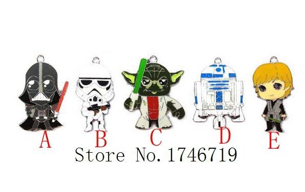 Hot Sale 100 pcs Popular Star Wars  Charm Pendants DIY Jewelry Making  Accessories  For Best Gift D-200
