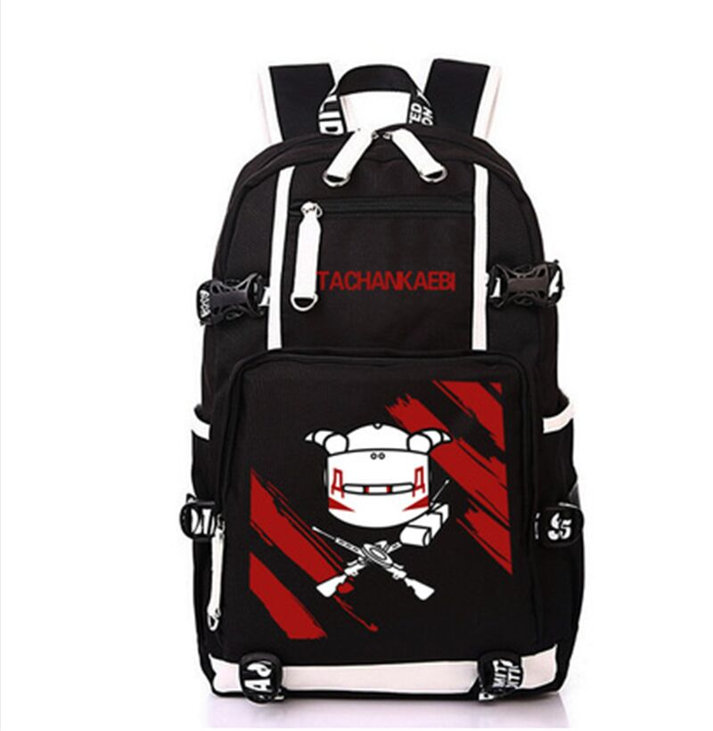 Arco-íris seis cerco lona mochila adolescente estudante