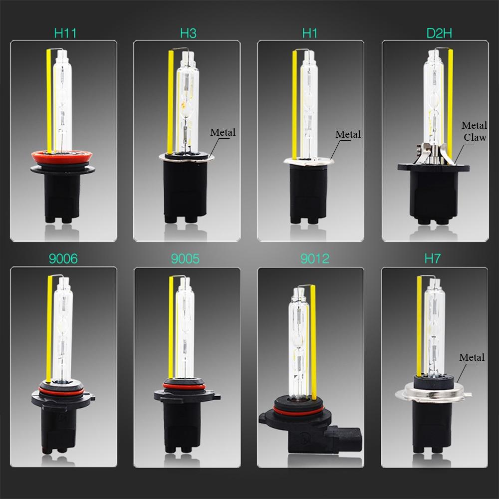 SKYJOYCE 55 W D2H HID xénon KIT H7 9012 Bixenon H4 5500 K xénon HID phares ampoule D2Y métal H3 rapide lumineux Ballast F5 Kit H11 - 4