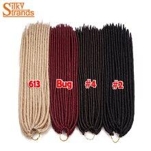 Silky Strands Crochet Braids Locks Faux Locs Crochet Hair Extensions Kanekalon Synthetic Braiding Hair Black Brown Blonde Colors