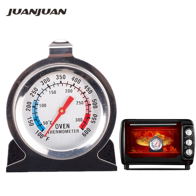 1Pcs Food Meat Temperature Stand Up Dial Oven Thermometer Stainless Steel Gauge Gage Large Diameter Dial Kitchen Baking Supplies