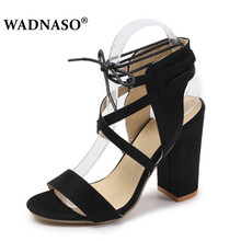 WADNASO Plus 34-43  Women Sandals Summer Sexy High Heels Sandals Women Shoes 10cm Heels Sandals Gladiator Opean Toe Women Shoes sexy women heeled sandals summer shoes women gladiator sandals open toe women shoes high heels wedding female shoes plus size de