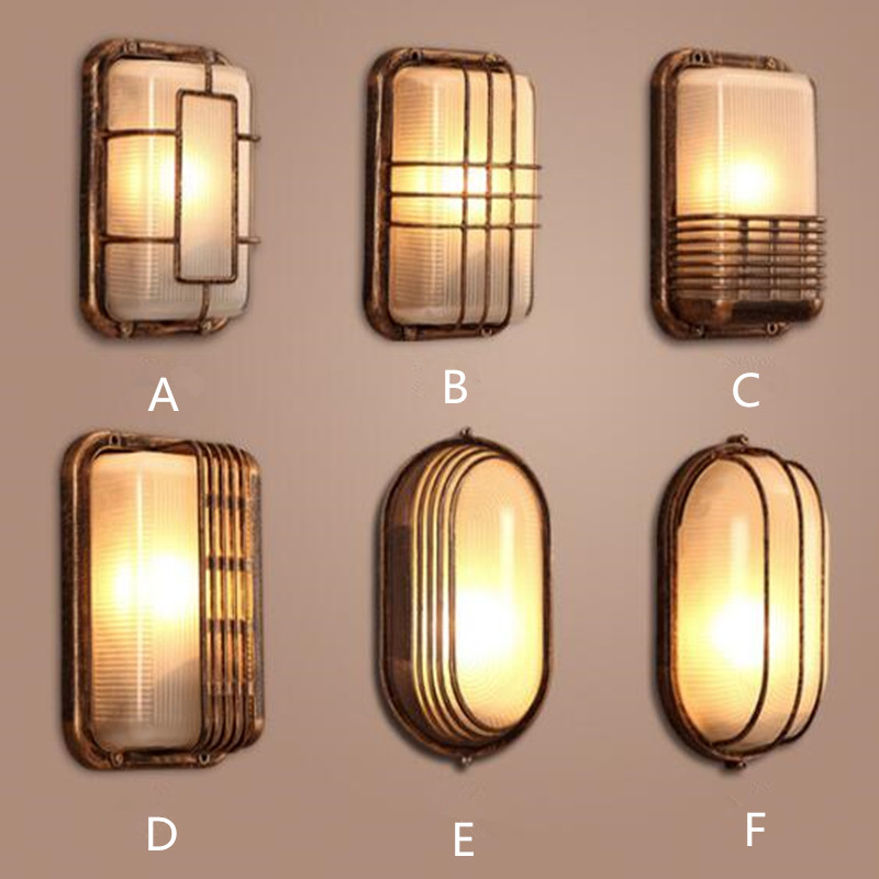 Led Indoor Wall Lamps Nordic Designer Industrial Wall Light Vintage Creative Concise Glass Light Kitchen Restaurant Loft Light Free Shipping