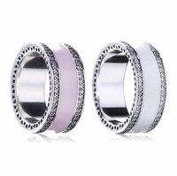 2017 Venda Nova Verão anel de Coração para as mulheres Authentic 925 Cristais de Swarovski 925 jóias de prata esterlina jóias Finas