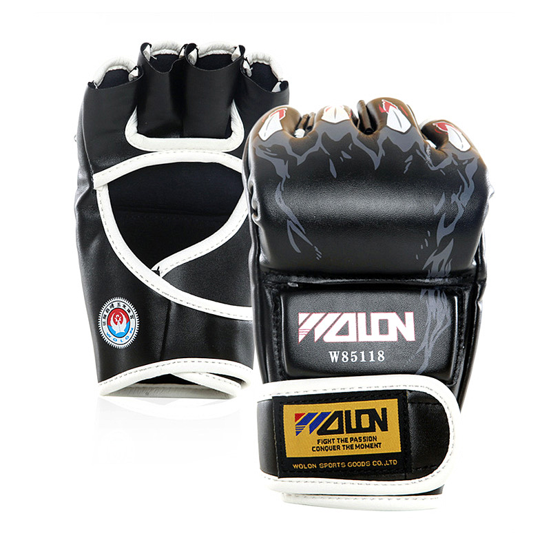 Grappling MMA PU cycling Boxing Punching Glove special thick cotton fabrics Sanda Fighting UFC Half Finger Gloves 5 colors
