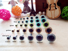 4.5mm safety eyes for stuffed toys 50pairs/lot 5colors High quality