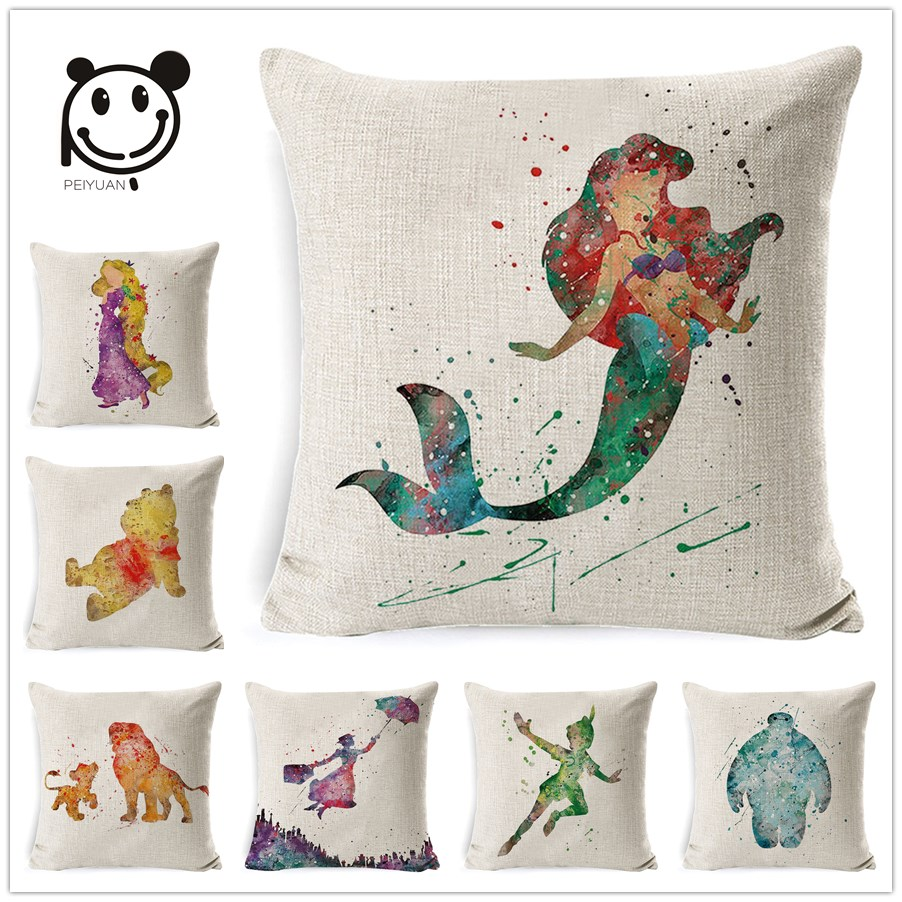 Table & Sofa Linens Home Textile Quneed 2019 Fashion Creative Letter Square Cushion Cover Multicolor Soft Cute Throw Pillow Cover Decorative Sofa Pillow Case Numerous In Variety