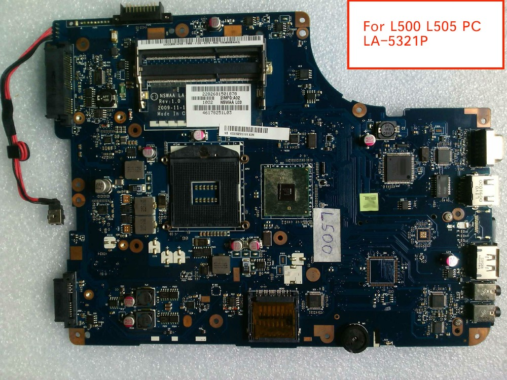 Free Shipping For <font><b>Toshiba</b></font> Satellite <font><b>L500</b></font> L505 LA-5321P K000092540 K000092510 Notebook <font><b>Motherboard</b></font> without HDMI port image