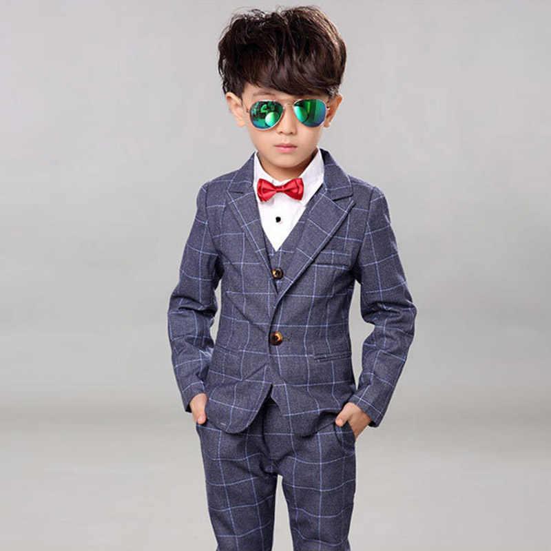 b946d5c725bb8 Children Gentleman Formal Clothing Boy Weddings Prom Suits 4PCS Kids  Wedding Dress For Boys Clothes Set 3 4 5 6 7 8 9 10 11 Year