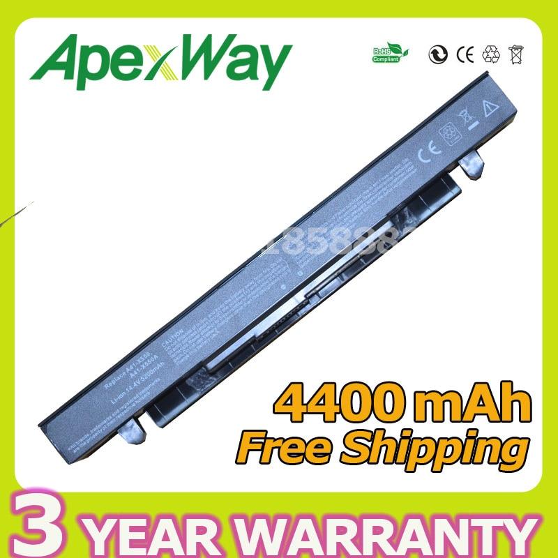 Apexway 8 cellules 4400 mAh batterie dordinateur portable pour asus A41-X550 A41-X550A A450 A550 F550 F552 K450 K550 P450 P550 R409 R510 X450 X550VApexway 8 cellules 4400 mAh batterie dordinateur portable pour asus A41-X550 A41-X550A A450 A550 F550 F552 K450 K550 P450 P550 R409 R510 X450 X550V