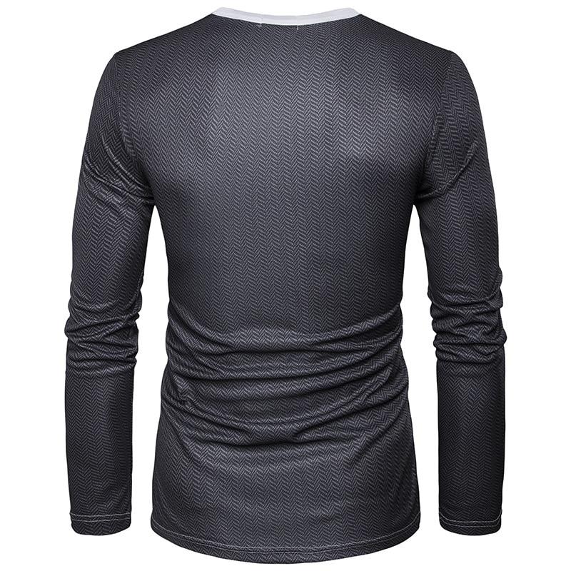 Fake Suit 3D Print T Shirt Men 2017 Autumn O Neck Men T Shirt Funny Harajuku Slim Fit Male T-shirt Hip Hop Camisetas Masculina