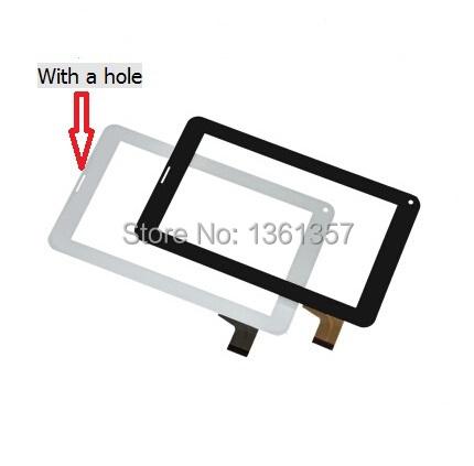 7 polegada tablets capacitive touch screen TYF1039V3 TYF-20121122-1039V3 Com um buraco frete grátis preto/branco