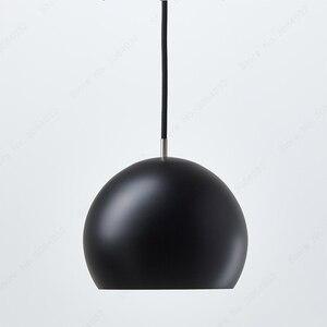 Image 3 - BDBQBL półkula wisiorek światła postmodernizm europa północna wisiorek LED lampa AC 90 260V sypialnia salon badania Hanglamp