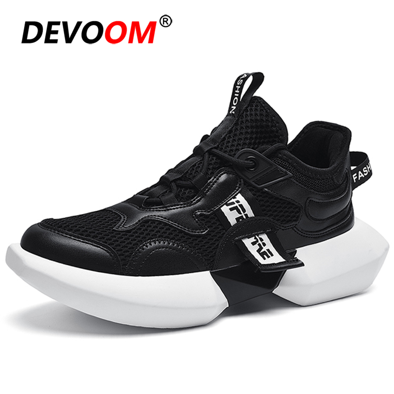 New Running Shoes For Men White Chunky Sneakers Men Breathable Mesh 2019 Basket Chaussure Homme Sport Shoes Men Triple S Shoes