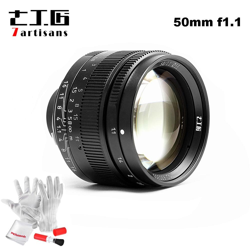 7 artisans 50mm F1.1 M Mont Fixe Objectif pour Leica M-Caméras à Monture M-M M240 M3 M6 M7 m8 M9 M10
